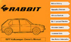 VW RABBIT 1977 OM