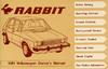 VW RABBIT 1981 OM