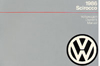 Volkswagen Scirocco/Scirocco 16V Owner's Manual: 1986