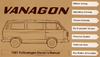 Volkswagen Vanagon Owner's Manual: 1981