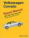 Volkswagen Corrado (A2)<br/>Official Factory Repair Manual:<br/>1990, 1991, 1992, 1993, 1994