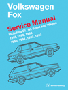 Volkswagen Fox Service Manual:<br/>1987, 1988, 1989, 1990,<br/>1991, 1992, 1993
