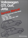 Volkswagen GTI, Golf, and Jetta Service Manual: 1985-1992