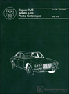 Jaguar XJ6 Series 1 Spare Parts Catalogue: 1968-1972