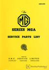 MGA 1500 Parts Catalogue: 1955-1959