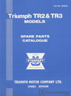 Triumph TR2 & TR3 Parts Catalogue: 1953-1963