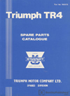 Triumph TR4 Parts Catalogue: 1961-1964