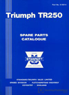 Triumph TR250 Spare Parts Catalogue: 1968