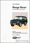 Range Rover Parts Catalogue 1992 to 1994 MY Plus Classic 1995 MY