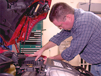Research and development for the MINI Cooper Service Manual: 2002-2004. David Marsan, editor, pictured.